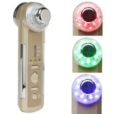 4 in1 Photon Ultrasonic LED Electric Facial Massager Body Beauty Skin Care Tool