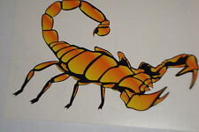 "2 SCORPION STICKERS DECALS 4"" MOTOR SPORTS MOTORBIKE HELMETS  IOM TT RACING CARS"