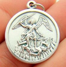 MRT St Michael Oxidized Silver Medal Police Protection Pendant Gift From Italy