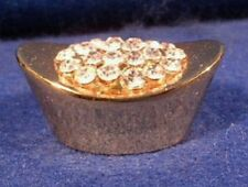 Replica Chinese Small Gold Ingot for Wealth Protection Gold Plated with Crystals