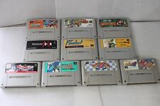 Whole sale Lot of 10 Nintendo Super Famicom (SNES) games/Japan import
