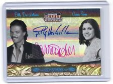 Americana Billy Dee Williams Carrie Fisher Leia autograph card #23/25 Star Wars