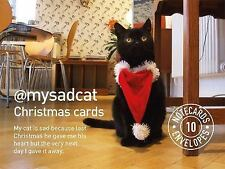 My Sad Cat Christmas Cards by Tom Cox (2015, Postcard Book or Pack)
