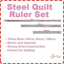 Professional Quilting Ruler Set -  Metal 30/50/100cm Patchwork Craft Dressmaking