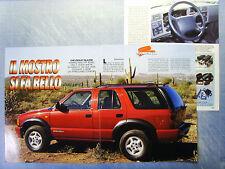 AUTO995-RITAGLIO/CLIPPING/NEWS-1995-CHEVROLET BLAZER - 3 fogli