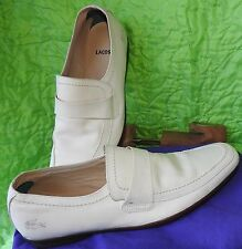 LACOSTE CLAMONT SMILE Men's Loafer White Color Size USA 10.5 D EUR-44
