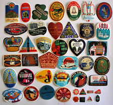 Lot of 43 Retro Vintage Travel Hotel Airline Skateboard Luggage VINYL Sticker
