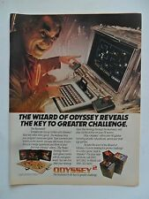 1982 Print Ad Magnavox Odyssey 2 Video Game Computer System ~ Wizard Reveals Key