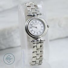 Sterling Silver - ECCLISSI Grooved Bezel Panther Link Band - Watch