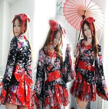 New Women Kimono Japanese Lolita Maid Uniform Outfit Anime Cosplay Costume Dress