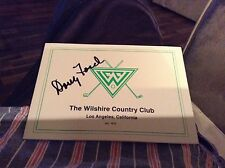 Doug Ford 1957 LA Open Signed Wilshire Country Club Scorecard