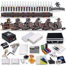 Tattoo Kit 6 Top Machine Gun 40 Color Ink Power Supply Needle Complete