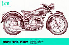 Sunbeam - S7 - S8  - Motorräder - Prospekt  - 1957  - Deutsch - nl-Versandhandel