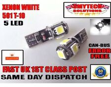 501 X2 Canbus 5 LED Xenon White Sidelights/numberplate NISSAN PRIMERA
