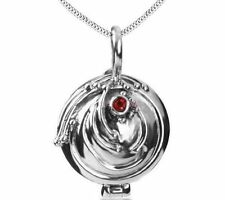 Vampire Diaries Elena Vervain red silver crystal charm pendant necklace