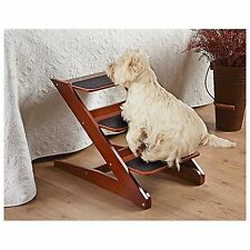 New Pet Cat Dog Doggy 3-step Foldable Wood Pet Steps Ramp Portable Gear Non-slip