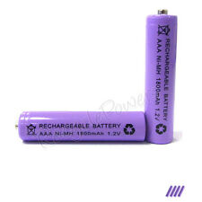 4 pcs AAA 3A 1800mAh Ni-MH Rechargeable Battery Purple
