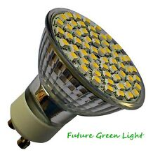 GU10 60 SMD LED 240V 4.5W DIMMABLE 320LM WHITE BULB ~50W