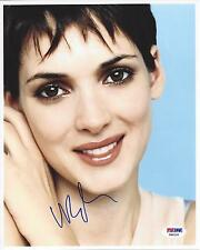 Winona Ryder signed 8x10 Photo Autograph PSA DNA Certificate of Authenticity