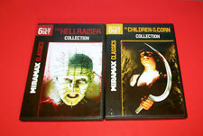2 DVD SETS: The Hellraiser Collection 6 FILMS &The Children of the Corn 6 FILMS