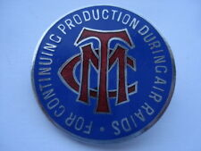 CWW2 TMC FOR CONTINUING PRODUCTION DURING AIR RAIDS STAFF No 2564 ENAMEL BADGE