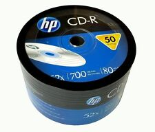 50 HP Blank CD-R CDR Recordable Logo Branded 52X 700MB 80MIN Media Disc