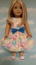 """18 inch Doll Clothes - Easter Dress handmade to fit 18"""" American Girl Dolls d12b"""