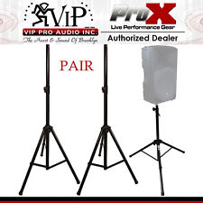 "ProX T-SS26 SPEAKER STAND 44"" to 76"" HEIGHT ADJUSTABLE W/ METAL JOINT NEW (Pair)"