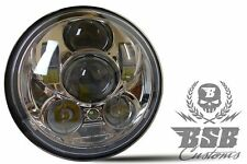 "LED SCHEINWERFER 5,75"" Harley Davidson FORTY EIGHT XL 1200 XL 883 CHROME"