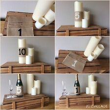 Table Numbers 1-10 Hessian Wedding Party Vintage Burlap