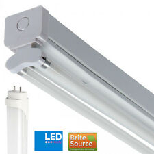 Batten Fitting 5FT Twin T8 With Brite Source Cool White 4000k LED Tubes