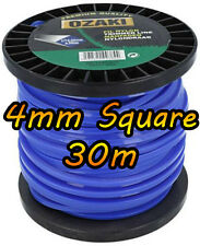 30m of 4mm SQUARE - DR TRIMMER STRIMMER Cord Line Wire String Nylon - HEAVY DUTY