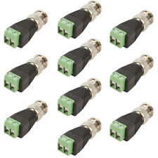 10 pcs Coax CAT5 To CCTV Coaxial Camera BNC Male Video Balun Connector