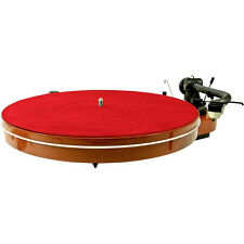 Analogis Matte Six - Turntable slipmat off Leather / Meather Mat red NIP