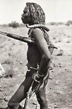 1934 Vintage AFRICA Ghana Native TRIBAL MAN Hunter Photo Antelope Horn 11x14