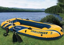 Intex Challenger 3 Boat Set Inflatable Raft with Pump and Paddles New 2013 Model