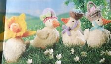 KNITTING PATTERN Alan Dart Easter Parade Ducks Decoration Eggs Bonnet PATTERN