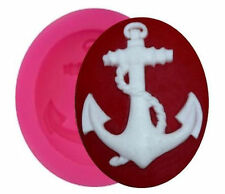 Anchor with rope Nautical Mini Silicone Mold for Fondant, GP, Chocolate, Crafts