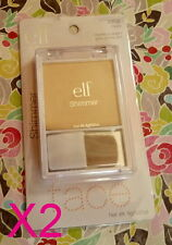 2 ELF SHIMMER PRESSED FACE POWDER - E.L.F. GOLD #23132