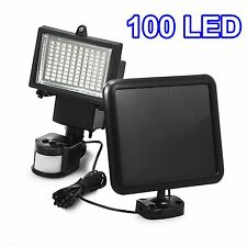 1 Pack 100 SMD LEDs Solar Powered Motion Sensor Security Light Flood 16 22 60 80