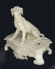C19th Dog Inkstand Jacob Petit Blanc De Chine 1840 - SUPERB and LARGE