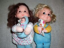 Pair Mattel Baby Beans Mama and Pets Dolls