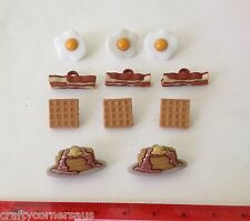 Bacon Fried Eggs Waffles Pancakes Novelty Buttons by Dress It Up 7677