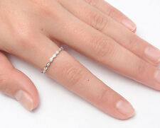 Silver Thin Eternity CZ Band Ring Sterling Silver 925 Best Deal Jewelry Size 9