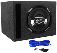 "Boss Audio Armor AR10D 10"" 2200 Watt Car Subwoofer With Vented Sub Box Enclosure"