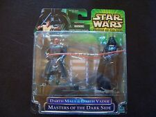 Star Wars Power ofthe Jedi POTJ Masters of the Dark Side Darth Maul Darth Vader