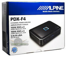 ALPINE PDX-F4 4-CHANNEL POWER CAR AMPLIFIER NEW PDXF4 CAR AMP 400W POWER AMP