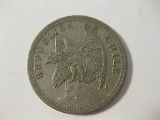 "1933 Chile coin 1 PESO  ""CONDOR""   nice f  Beauties  bird coin 80 year old coin"