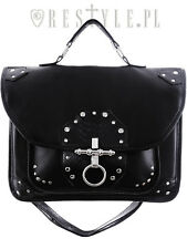 Restyle Snake Bite Goth Punk Rocker Black Emo Satchel Messenger Handbag Purse