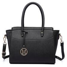 Women Designer PU Leather Celebrity Medium Shoulder Handbag Tote shoulder Bag